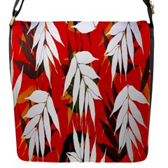 Leaves Pattern Background Pattern Flap Messenger Bag (s) by Simbadda