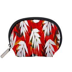 Leaves Pattern Background Pattern Accessory Pouches (small)  by Simbadda