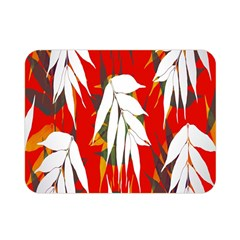 Leaves Pattern Background Pattern Double Sided Flano Blanket (mini)  by Simbadda