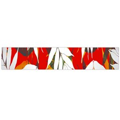 Leaves Pattern Background Pattern Flano Scarf (large) by Simbadda