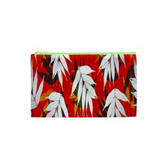 Leaves Pattern Background Pattern Cosmetic Bag (xs) by Simbadda