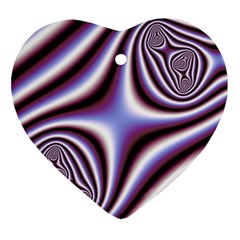 Fractal Background With Curves Created From Checkboard Ornament (heart) by Simbadda