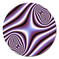 Fractal Background With Curves Created From Checkboard Magnet 5  (round) by Simbadda