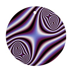 Fractal Background With Curves Created From Checkboard Round Ornament (two Sides) by Simbadda