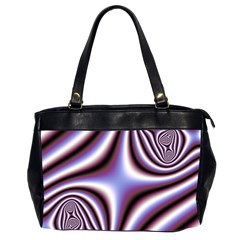 Fractal Background With Curves Created From Checkboard Office Handbags (2 Sides)  by Simbadda