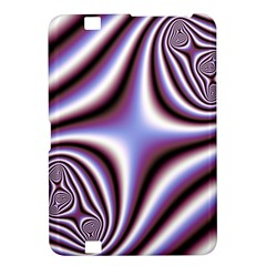 Fractal Background With Curves Created From Checkboard Kindle Fire Hd 8 9  by Simbadda