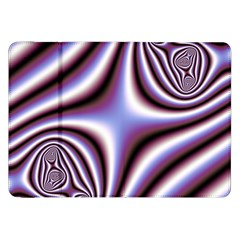 Fractal Background With Curves Created From Checkboard Samsung Galaxy Tab 8 9  P7300 Flip Case by Simbadda