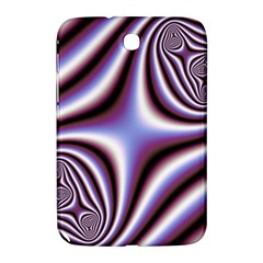 Fractal Background With Curves Created From Checkboard Samsung Galaxy Note 8.0 N5100 Hardshell Case  by Simbadda