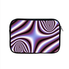 Fractal Background With Curves Created From Checkboard Apple Macbook Pro 15  Zipper Case by Simbadda