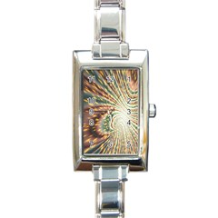 Vortex Glow Abstract Background Rectangle Italian Charm Watch by Simbadda