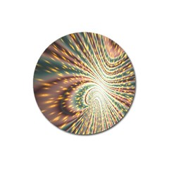 Vortex Glow Abstract Background Magnet 3  (round) by Simbadda