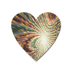 Vortex Glow Abstract Background Heart Magnet by Simbadda