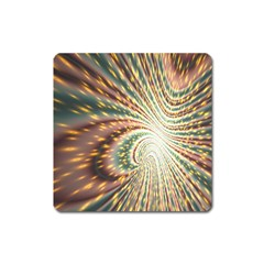 Vortex Glow Abstract Background Square Magnet by Simbadda
