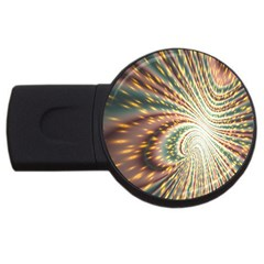 Vortex Glow Abstract Background Usb Flash Drive Round (2 Gb) by Simbadda