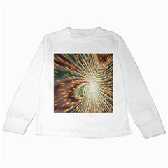 Vortex Glow Abstract Background Kids Long Sleeve T Shirts by Simbadda