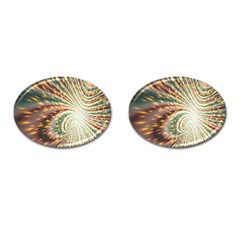 Vortex Glow Abstract Background Cufflinks (oval) by Simbadda