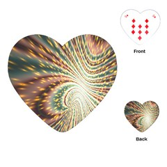 Vortex Glow Abstract Background Playing Cards (heart)  by Simbadda