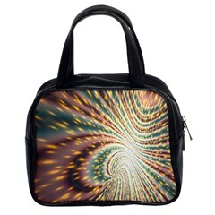 Vortex Glow Abstract Background Classic Handbags (2 Sides) by Simbadda