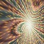 Vortex Glow Abstract Background Storage Stool 12   Top