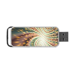 Vortex Glow Abstract Background Portable Usb Flash (one Side) by Simbadda