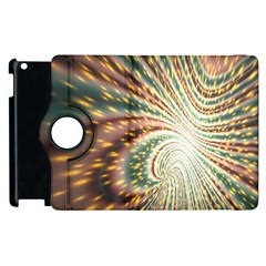 Vortex Glow Abstract Background Apple Ipad 3/4 Flip 360 Case by Simbadda