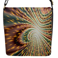 Vortex Glow Abstract Background Flap Messenger Bag (s) by Simbadda