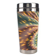 Vortex Glow Abstract Background Stainless Steel Travel Tumblers by Simbadda