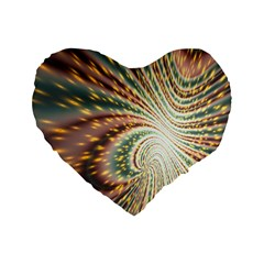 Vortex Glow Abstract Background Standard 16  Premium Flano Heart Shape Cushions by Simbadda