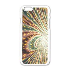 Vortex Glow Abstract Background Apple Iphone 6/6s White Enamel Case by Simbadda