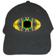 Fractal Rings In 3d Glass Frame Black Cap by Simbadda