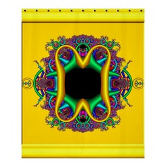 Fractal Rings In 3d Glass Frame Shower Curtain 60  X 72  (medium)  by Simbadda