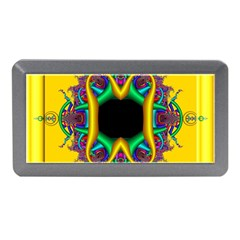 Fractal Rings In 3d Glass Frame Memory Card Reader (mini) by Simbadda