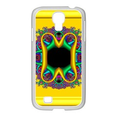 Fractal Rings In 3d Glass Frame Samsung Galaxy S4 I9500/ I9505 Case (white) by Simbadda