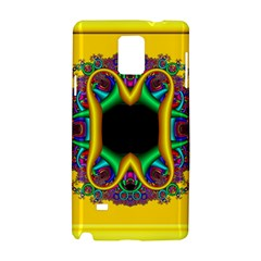 Fractal Rings In 3d Glass Frame Samsung Galaxy Note 4 Hardshell Case by Simbadda