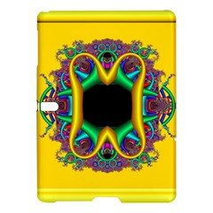 Fractal Rings In 3d Glass Frame Samsung Galaxy Tab S (10 5 ) Hardshell Case  by Simbadda