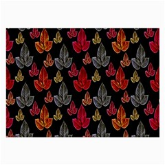 Leaves Pattern Background Large Glasses Cloth (2 Side) by Simbadda