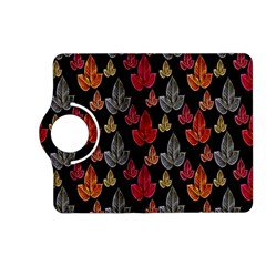 Leaves Pattern Background Kindle Fire Hd (2013) Flip 360 Case by Simbadda
