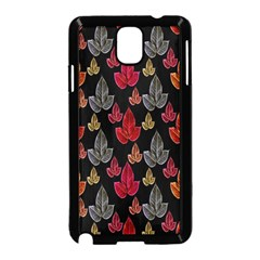 Leaves Pattern Background Samsung Galaxy Note 3 Neo Hardshell Case (black) by Simbadda