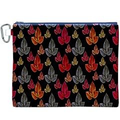 Leaves Pattern Background Canvas Cosmetic Bag (xxxl) by Simbadda