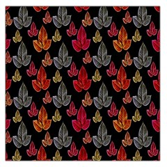 Leaves Pattern Background Large Satin Scarf (square) by Simbadda