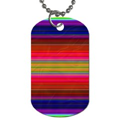 Fiestal Stripe Bright Colorful Neon Stripes Background Dog Tag (two Sides) by Simbadda