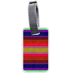 Fiestal Stripe Bright Colorful Neon Stripes Background Luggage Tags (two Sides) by Simbadda