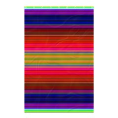 Fiestal Stripe Bright Colorful Neon Stripes Background Shower Curtain 48  X 72  (small)  by Simbadda