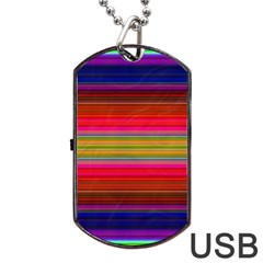 Fiestal Stripe Bright Colorful Neon Stripes Background Dog Tag Usb Flash (one Side) by Simbadda