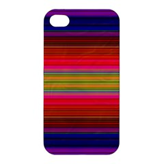 Fiestal Stripe Bright Colorful Neon Stripes Background Apple Iphone 4/4s Hardshell Case by Simbadda