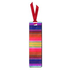 Fiestal Stripe Bright Colorful Neon Stripes Background Small Book Marks by Simbadda