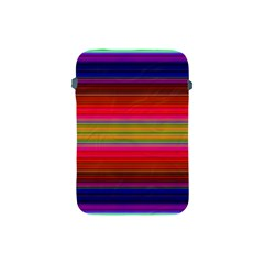 Fiestal Stripe Bright Colorful Neon Stripes Background Apple Ipad Mini Protective Soft Cases by Simbadda