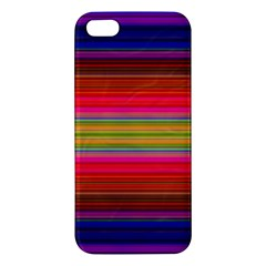 Fiestal Stripe Bright Colorful Neon Stripes Background Iphone 5s/ Se Premium Hardshell Case by Simbadda