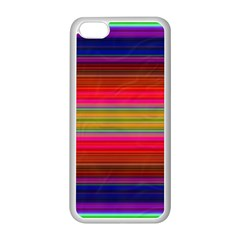 Fiestal Stripe Bright Colorful Neon Stripes Background Apple Iphone 5c Seamless Case (white) by Simbadda
