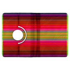 Fiestal Stripe Bright Colorful Neon Stripes Background Kindle Fire Hdx Flip 360 Case by Simbadda